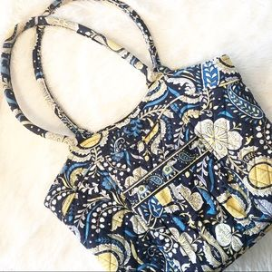 Vera Bradley shopping tote quilted blue